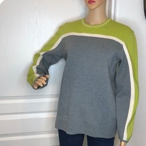 Express Color Clock Pullover Sweater Size M